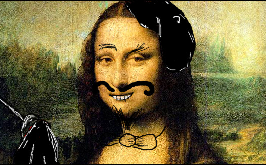 Silly Mona Lisa ~ by Merengil