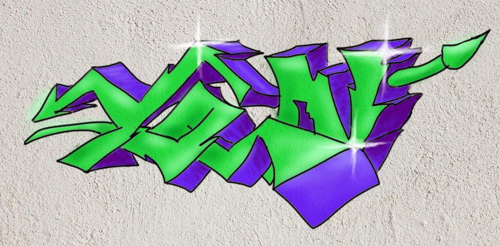 Yon - Graffiti #2 by Merengil