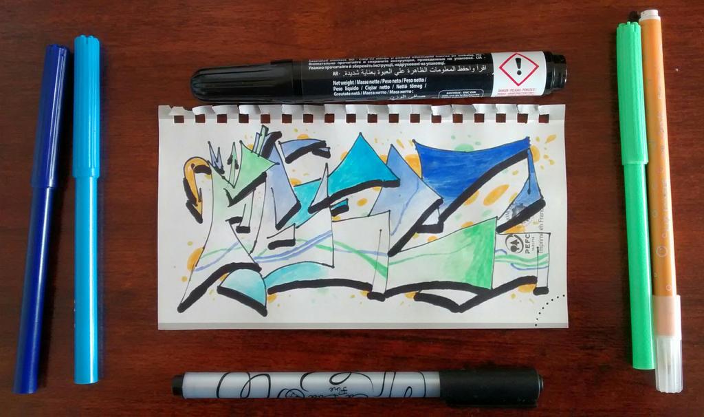 Feelz - graffiti 7 by Merengil