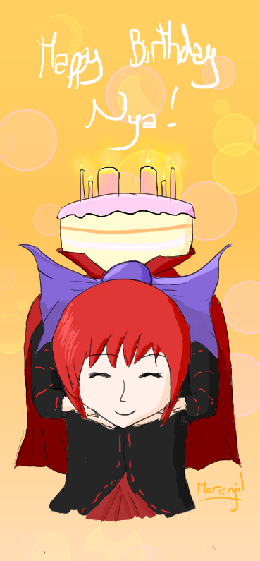 Happy Birthday Nya! :D by Merengil