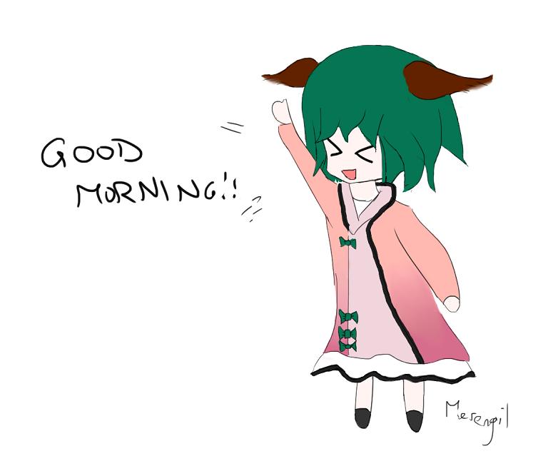 Kyouko's morning greetings by Merengil