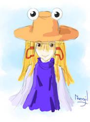 A portrait of Suwako