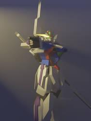 Gundam GX-9900 (with a Jojo pose)