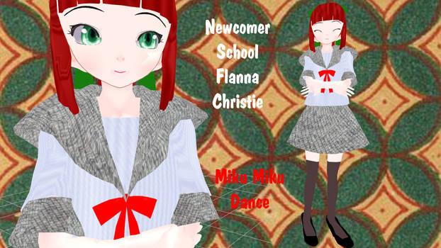 MMD  School - Flanna Christie - UTAUroid - retired