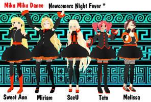 MMD Newcomers Night Fever 3