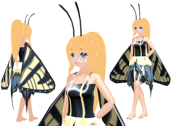MMD butterfly Caroline Joy - UTAUroid