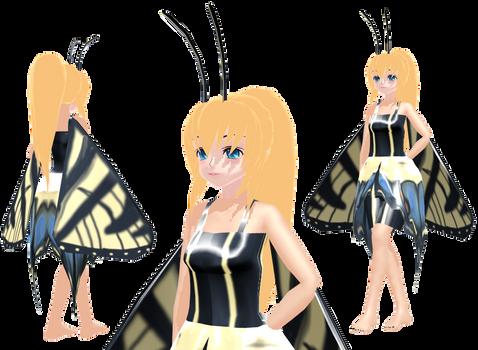 MMD butterfly Caroline Joy - UTAUroid