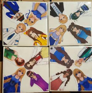 UTAUloid title coasters