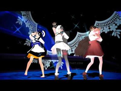 MMD UTAU Lair Dance - Aimi, Roza, Myojo