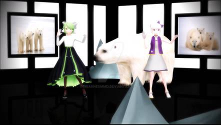 MMD UTAU Shirokuma Dance {Lyra - Kitty Kokone}