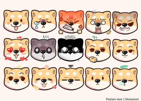 Shiba Emojis