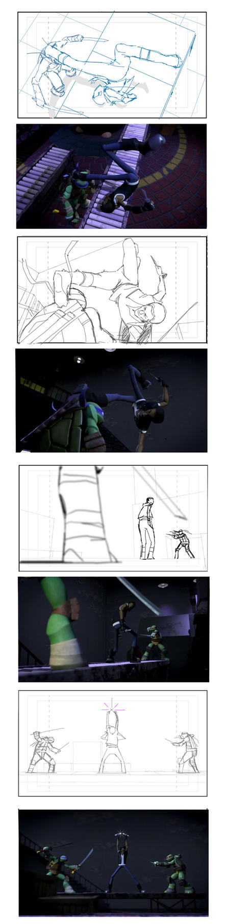 TMNT Season 1 Storyboards by Konjur