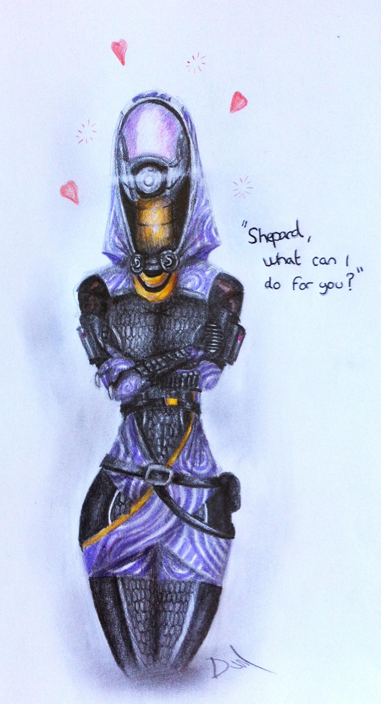 Tali loves Shepard by DavidEllisArtwork