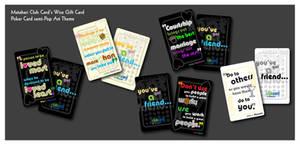 Semi Pop Art Wise Card Poker by adheeslev