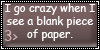 Crazy Over Blank Paper Stamp by KurnalBushyBrows