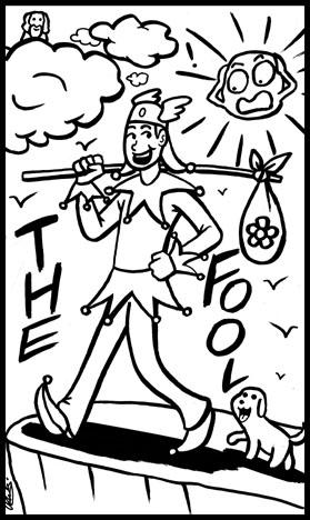 Inkwork Sorcery Tarot: The Fool by Goh