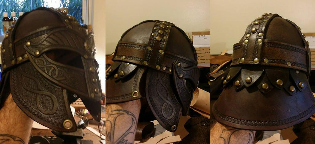 Leather Viking Helm  2.0 by theDOC30427