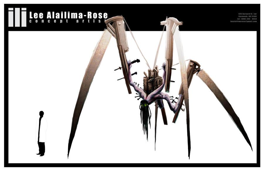 Cyberpunk Horror Monster Concept by lrose96799