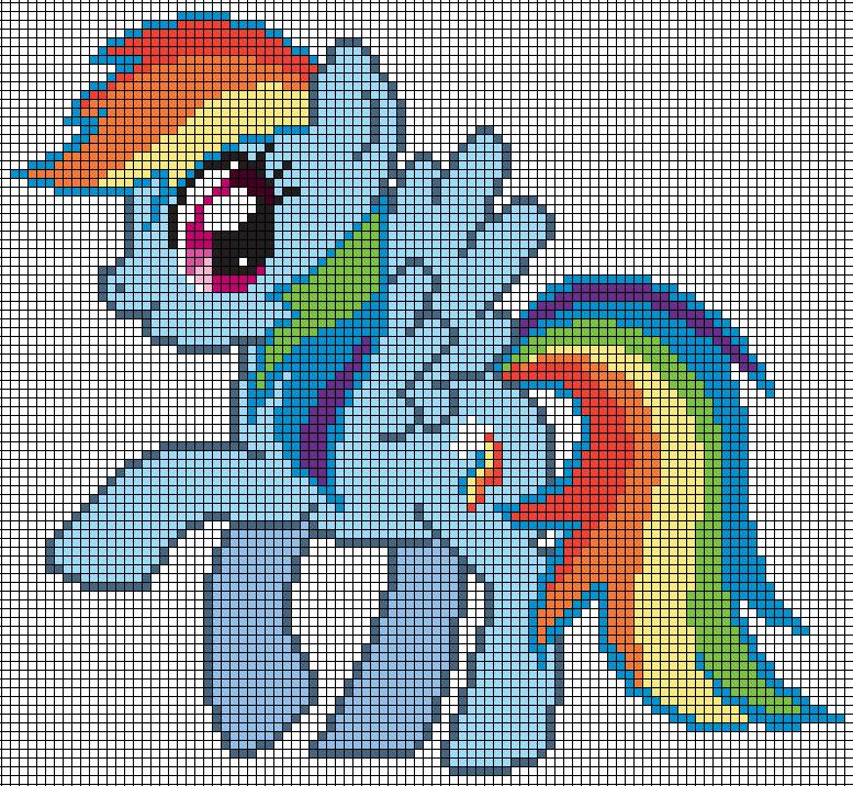 Rainbow Dash Pattern by Jackiekie