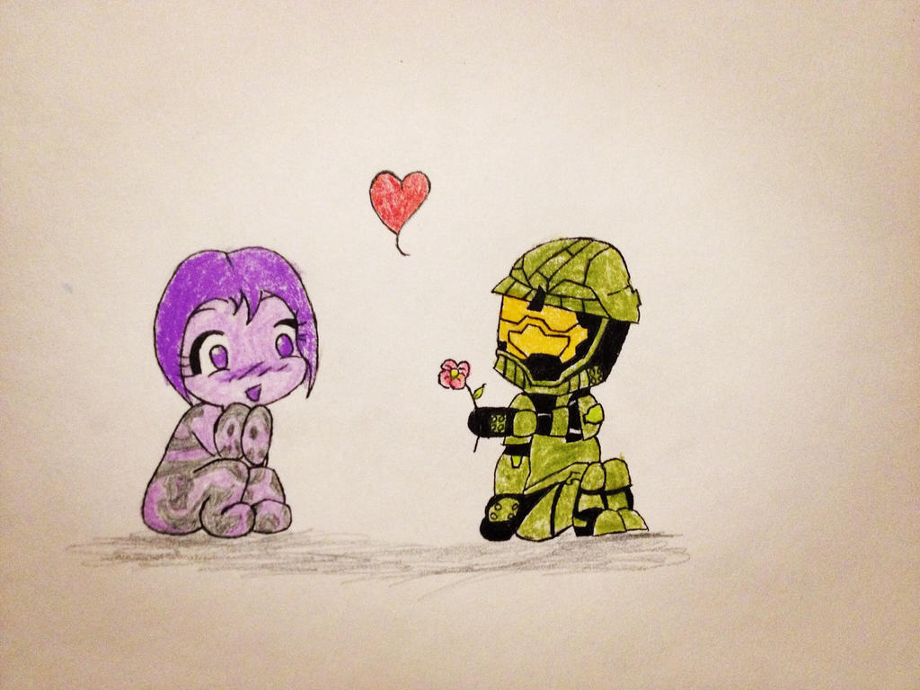 Master chief and Cortana by Zgamer177