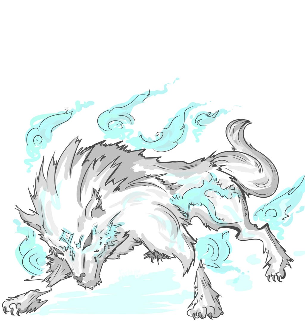 Okami Wolf Link by Excalibur-chanWolf Link And Okami