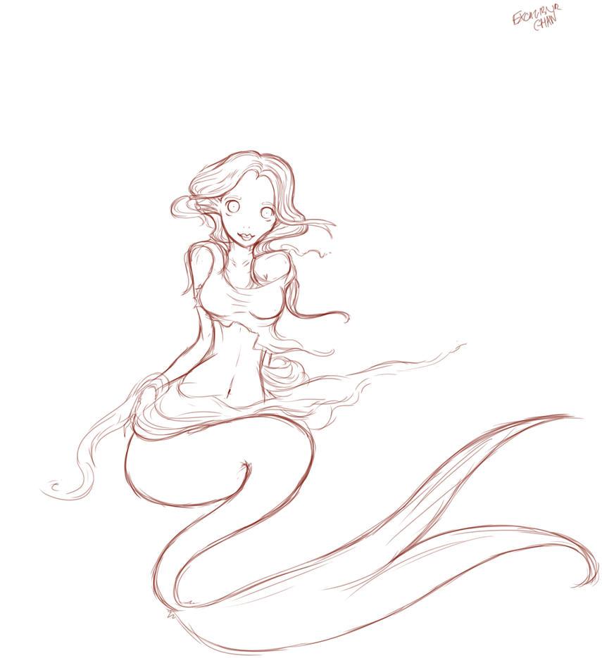 Mermaid Sketch by Mermaid Sketch