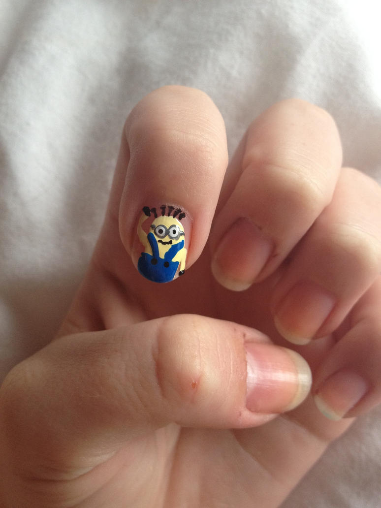Despicable Me minion nail art by jaide-holly on DeviantArt