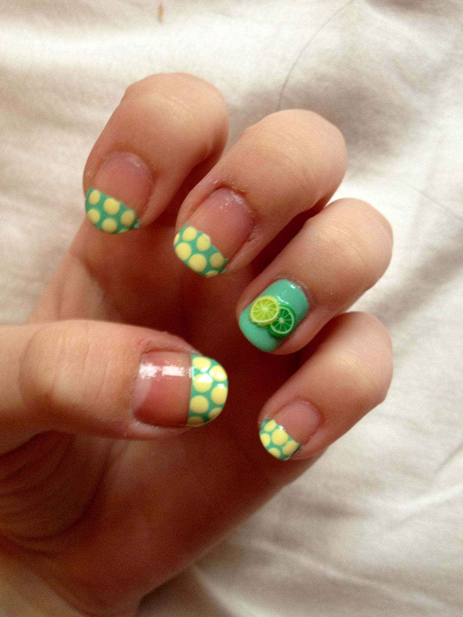 nail art lime