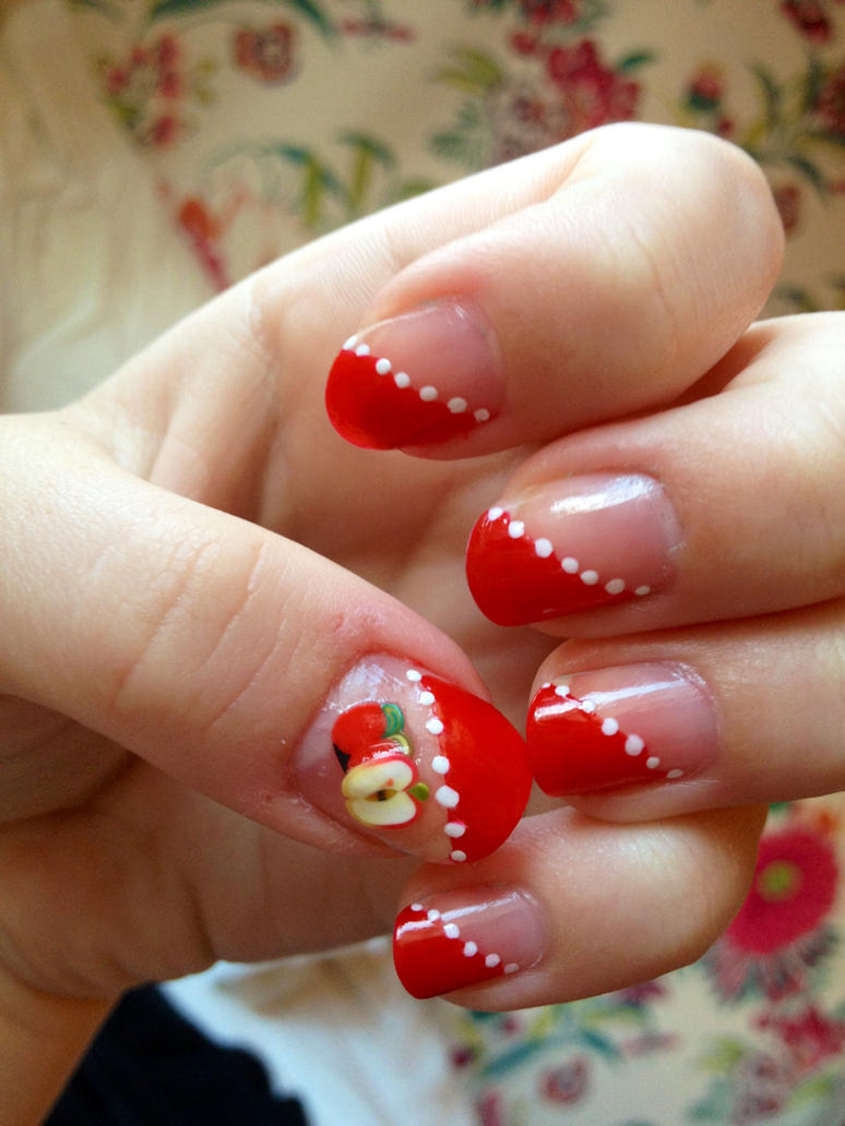 Fimo Apple Nail Art By Jaide Holly On Deviantart