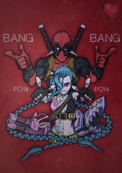 Character Team Up: Deadpool and Jinx