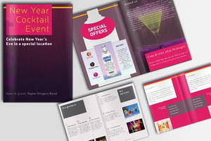 Cocktail and Bar Brochure (PSD) by IndoorTemplates