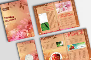 Floral Beauty Brochure (PSD) by IndoorTemplates