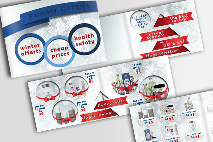 Medical and Cosmetics Christmas Brochure (PSD) by IndoorTemplates
