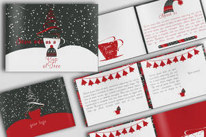 Coffee and Bar Christmas Brochure (PSD) by IndoorTemplates