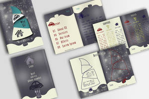 Travel blue brochure (PSD) by IndoorTemplates
