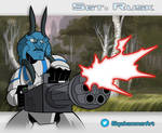 Sgt Rusk - Clone Wars Style by SkyeHammer