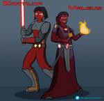 Valeus and Zartilda - Clone Wars Style by SkyeHammer