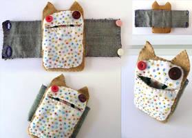 Poptart Kitty Bracelet Cuff by Shlii