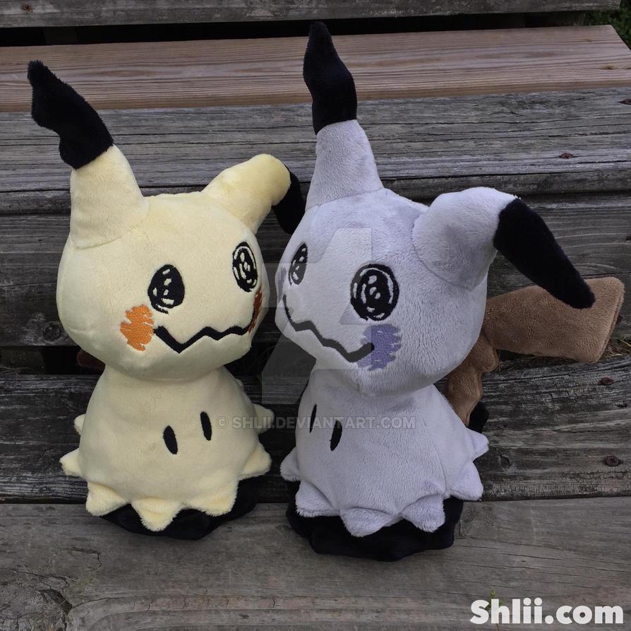 Mimikyu and Shiny Mimikyu Handmade Plush Dolls by Shlii