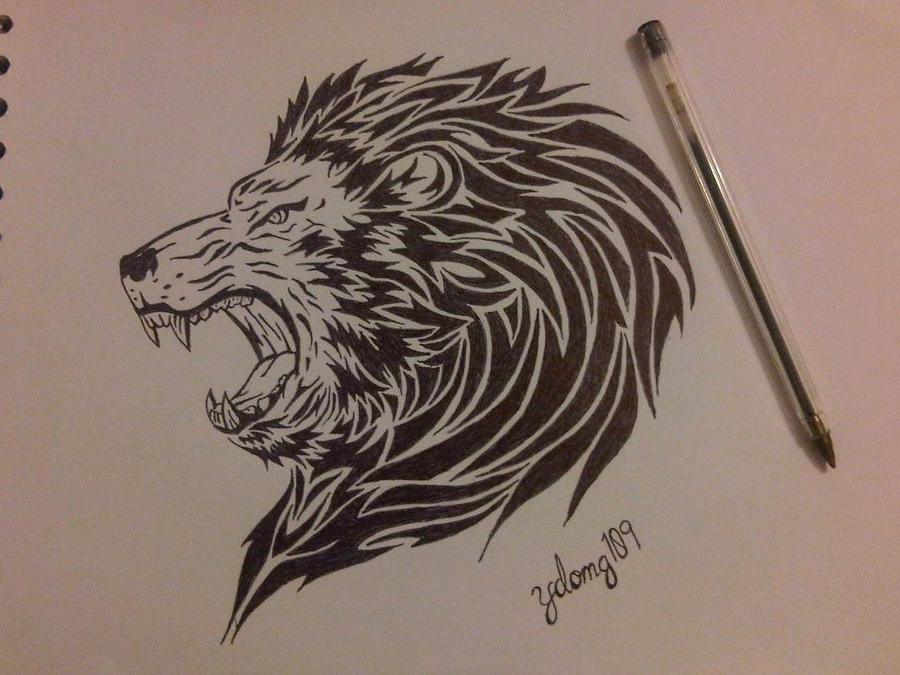 Cool Lion Drawings | Car Interior Design