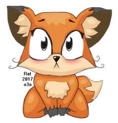 Luna the Fox (VK sticker fanart) by RatFromRule34