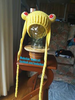 Sailor Moon inspired hand crochet beanie