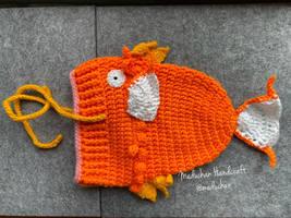 Pokemon inspired Magikarp hand crochet beanie