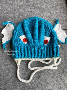 Pokemon inspired Gyarados hand crochet beanie
