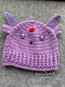 Pokemon inspired Espeon hand crochet beanie