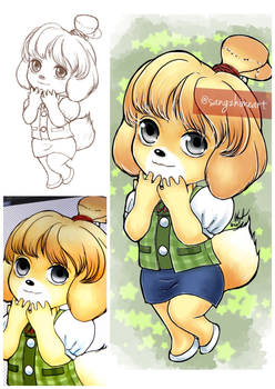 Isabella from Animal Crossing