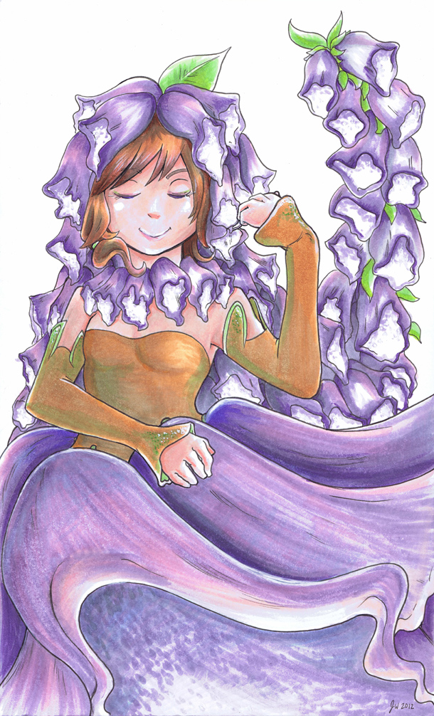 Pretty Foxglove by mikurose
