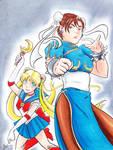 Chun-li and Sailor Moon