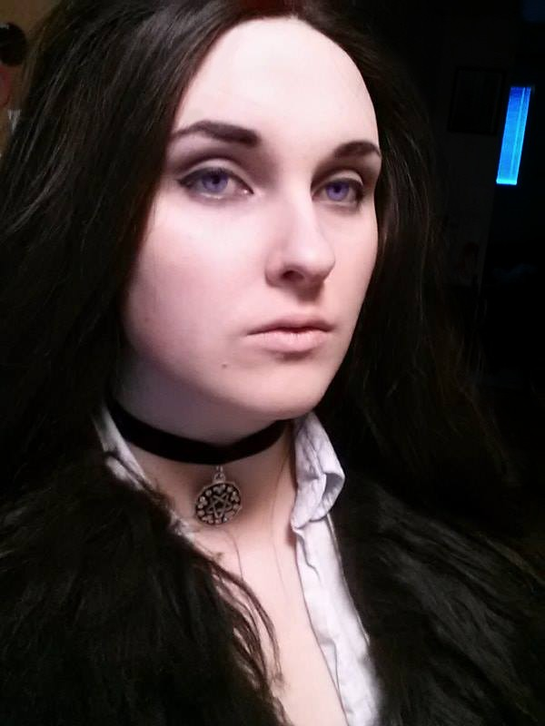 Yennefer of Vengerberg makeup trial by ScarlettAmbrose