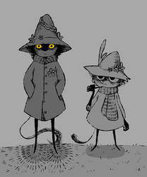 Joxter and Snufkin by minty0219